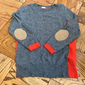 J Crew multi color sweater with elbow patches